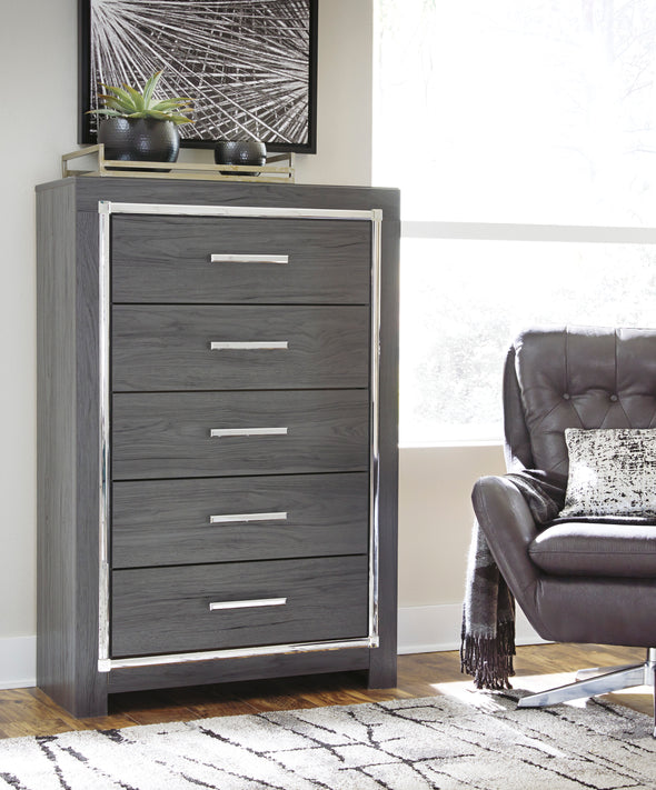 [SPECIAL] Lodanna Gray Youth LED Storage Bedroom Set - Luna Furniture