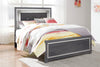Lodanna Gray Full LED Panel Bed - Luna Furniture