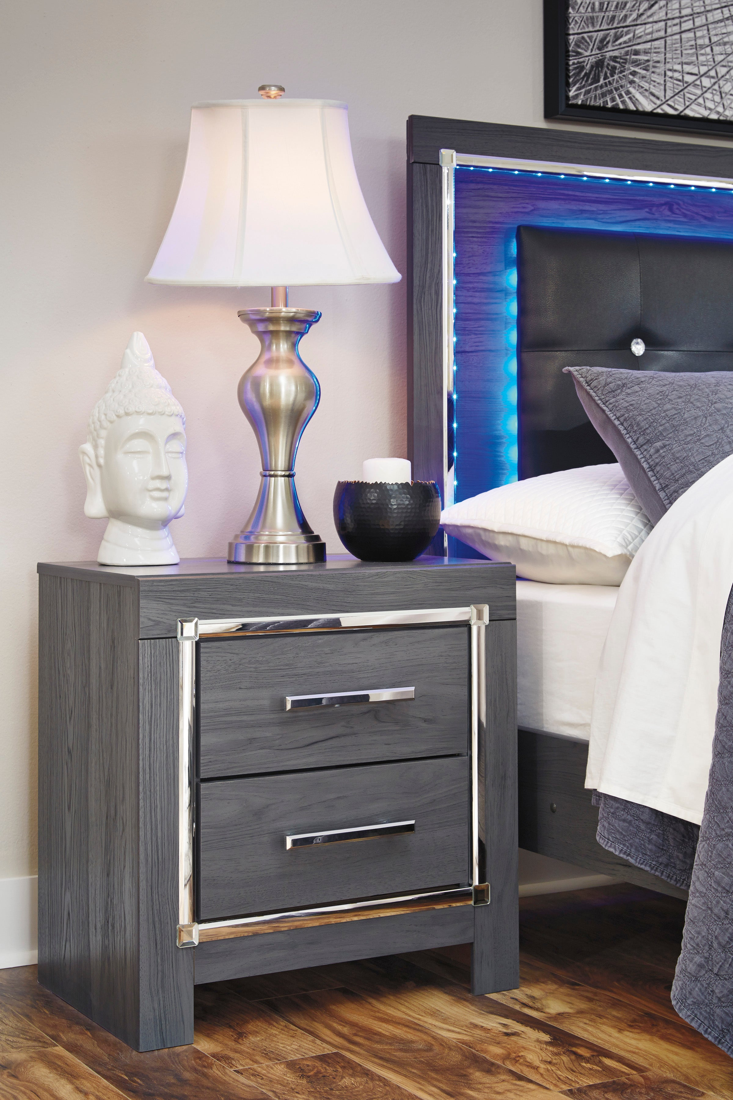 Special Lodanna Gray Led Panel Bedroom Set From Ashley Luna Furniture