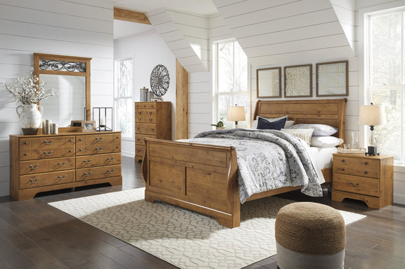 Bittersweet Light Brown Queen Sleigh Bed - Luna Furniture