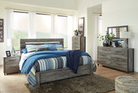 Cazenfeld Gray Panel Bedroom Set - Luna Furniture