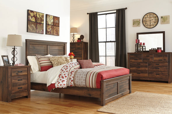 [SPECIAL] Quinden Dark Brown Panel Bedroom Set - Luna Furniture