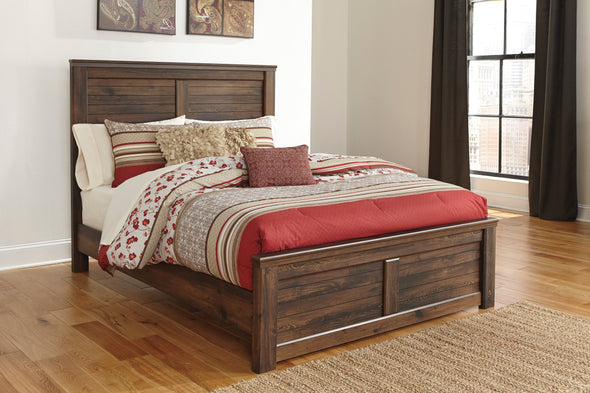 Quinden Dark Brown Queen Panel Bed - Luna Furniture