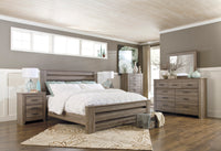 Zelen Warm Gray Panel Bedroom Set - Luna Furniture