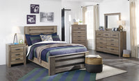 Zelen Warm Gray Panel Youth Bedroom Set - Luna Furniture