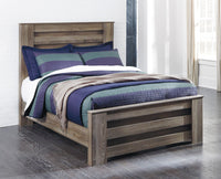 Zelen Warm Gray Full Panel Bed - Luna Furniture