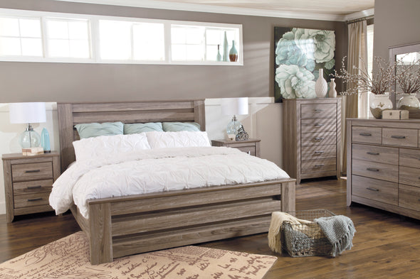 [SPECIAL] Zelen Warm Gray Panel Bedroom Set - Luna Furniture