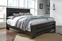 Brinxton Black King Panel Bed - Luna Furniture