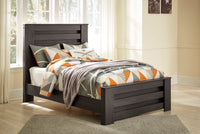 Brinxton Charcoal Full Panel Bed - Luna Furniture