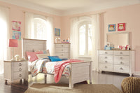 Willowton Whitewash Panel Youth Bedroom Set - Luna Furniture