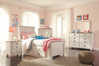 Willowton Whitewash Under Bed Storage Platform Youth Bedroom Set - Luna Furniture
