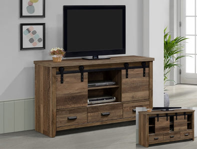 "Calhoun Brown 60"" TV Stand - Luna Furniture"