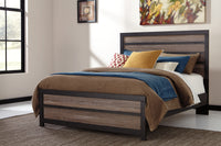 Harlinton Gray/Charcoal Queen Panel Bed | B325 - Luna Furniture