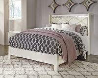Dreamur Champagne Queen Panel Bed - Luna Furniture