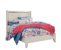 Dreamur Champagne Full Panel Bed - Luna Furniture