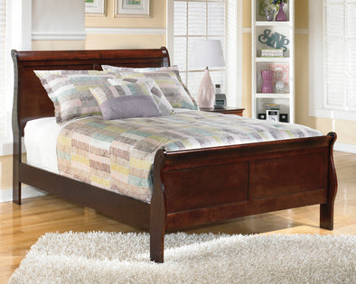 Alisdair Dark Brown Full Sleigh Bed | B376 - Luna Furniture