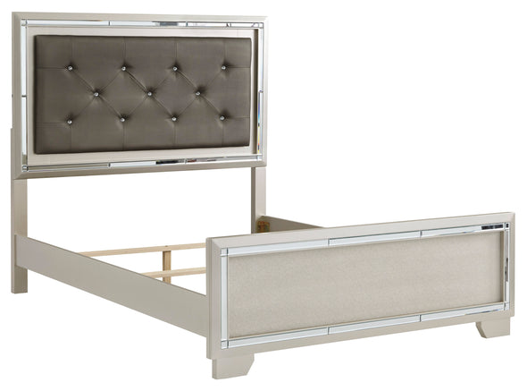 Lonnix Silver Youth LED Upholstered Panel Bedroom Set - Luna Furniture