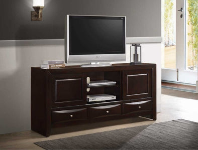 "Emily Dark Cherry 68"" TV Stand - Luna Furniture"