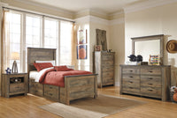 Trinell Brown Panel Under Bed Storage Youth Bedroom Set - Luna Furniture