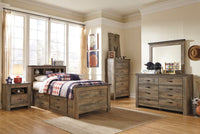 Trinell Brown Panel Bookcase Under Bed Storage Youth Bedroom Set - Luna Furniture