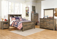 Trinell Brown Panel Bookcase Youth Bedroom Set - Luna Furniture
