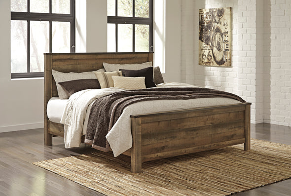 Trinell Brown King Panel Bed | B446 - Luna Furniture
