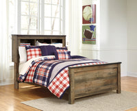 Trinell Brown Full Panel Bookcase Bed - Luna Furniture