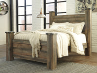 Trinell Brown Queen Poster Bed - Luna Furniture