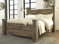 Trinell Brown King Poster Bed - Luna Furniture