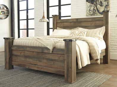 Trinell Brown King Poster Bed | B446