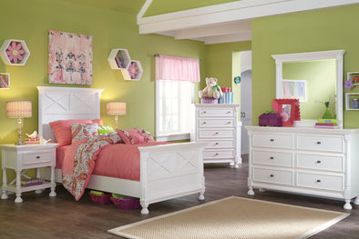 [SPECIAL] Kaslyn White Panel Youth Bedroom Set