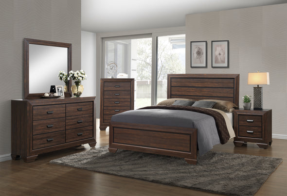Farrow Chocolate King Panel Bed - Luna Furniture