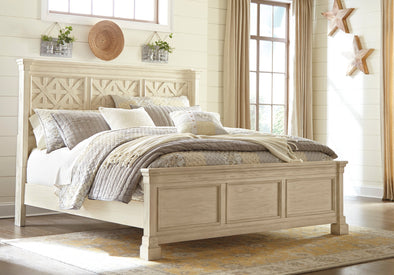 Bolanburg Antique White King Panel Bed | B647