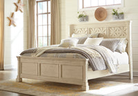 Bolanburg Antique White Queen Panel Bed - Luna Furniture