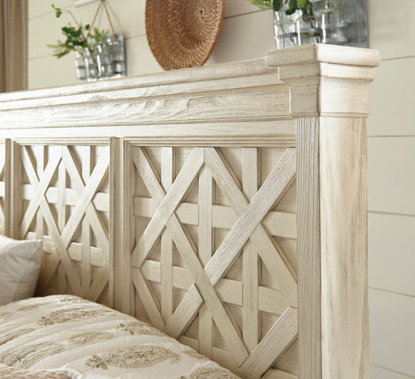 Bolanburg Antique White Louvered Panel Bedroom Set - Luna Furniture
