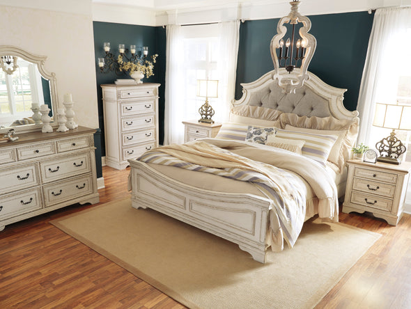 Realyn Chipped White Panel Bedroom Set *** - Luna Furniture