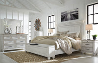 Kanwyn Whitewash Panel Storage Bedroom Set - Luna Furniture