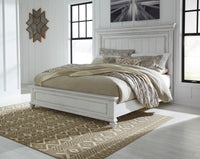 Kanwyn Whitewash Queen Panel Bed - Luna Furniture