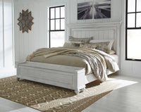 Kanwyn Whitewash King Panel Storage Bed - Luna Furniture