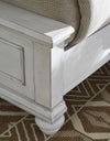 Kanwyn Whitewash King Panel Bed - Luna Furniture