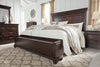 Brynhurst Dark Brown Queen Panel Storage Bed - Luna Furniture