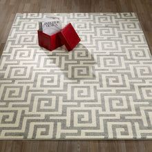 Load image into Gallery viewer, City 3133 Greek Key Geometric Light Grey Area Rug - 5X7 - Bellaria Furniture HomeStore