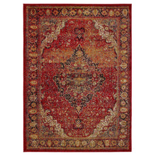 Load image into Gallery viewer, City 3170 Antique Faded Look Red Area Rug - 5X7 - Bellaria Furniture HomeStore