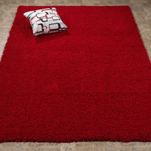 Load image into Gallery viewer, Cozy 2760 Solid Dark Red Shaggy Area Rug - 8X10 - Bellaria Furniture HomeStore