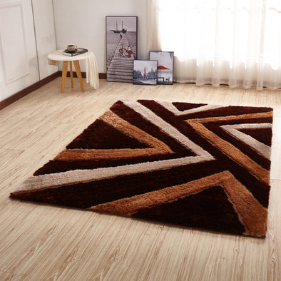 CSR2021 - Crown Shaggy 3D Brown Area Rug