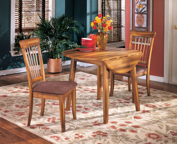 Berringer Rustic Brown Drop Leaf Dinette Set - Luna Furniture
