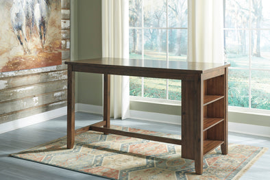 Chaleny Warm Brown Rectangular Counter Height Table - Luna Furniture