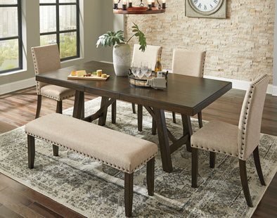 Rokane Brown Rectangular Dining Set - Luna Furniture