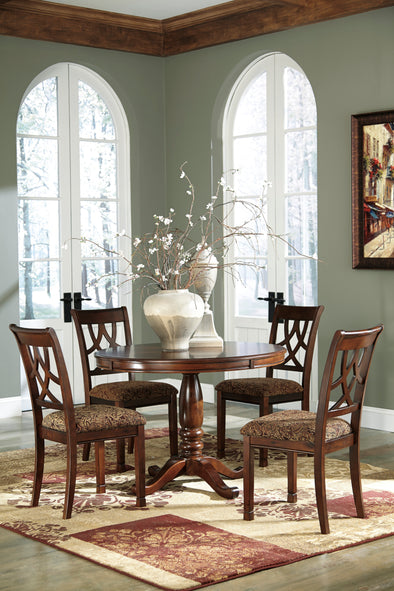 Leahlyn Medium Brown Round Dining Set | D436 - Luna Furniture