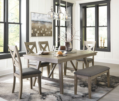 Aldwin Gray Dining Room Set - Luna Furniture